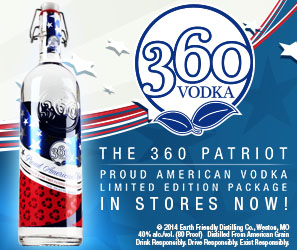 Celebrate the 4th with 360 Patriot Vodka
